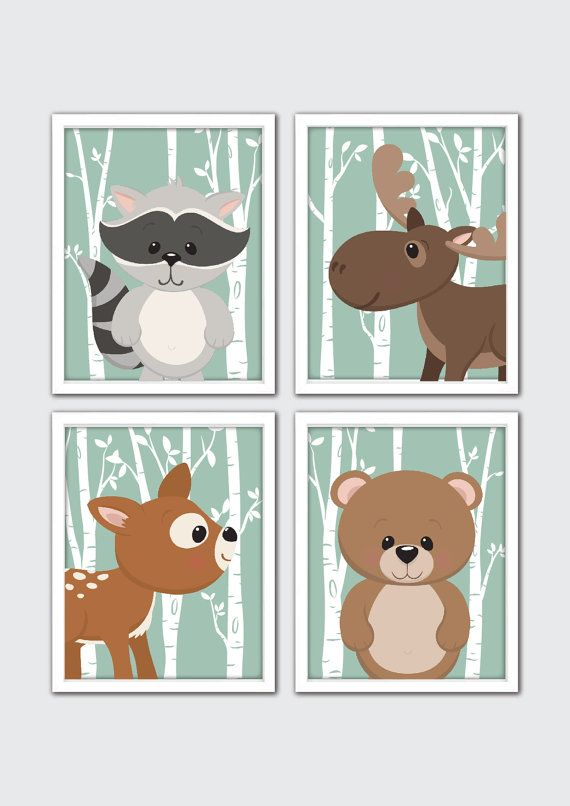 Woodland Animal Nursery Forest Decor Woodland by RomeCreations