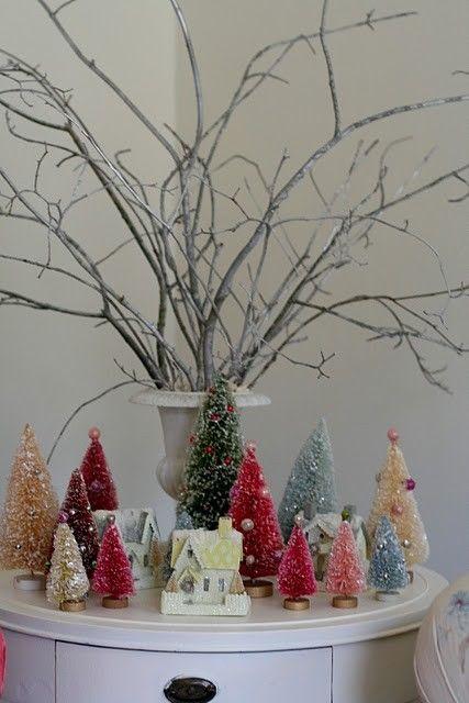 Bottle Brush Tree Display Bottle Brush Christmas Trees Merry Little Christmas Bottle Brush Trees