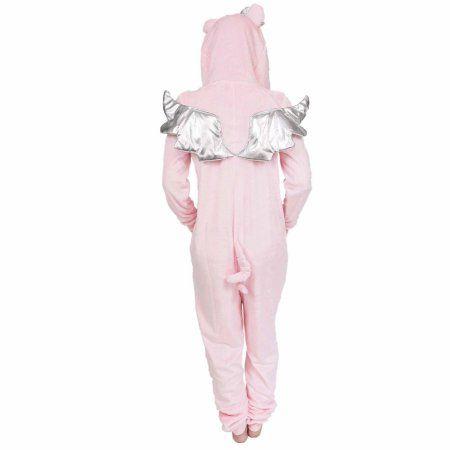 Secret treasures Women s Pig character sleepwear adult one piece costume  union suit pajama (sizes xs-3x) 0645a88e6