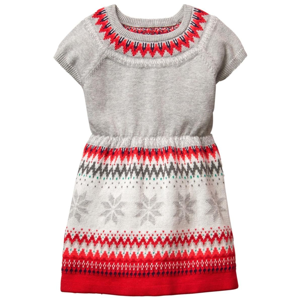 Toddler Girl Heather Grey Fair Isle Sweater Dress by Gymboree ...