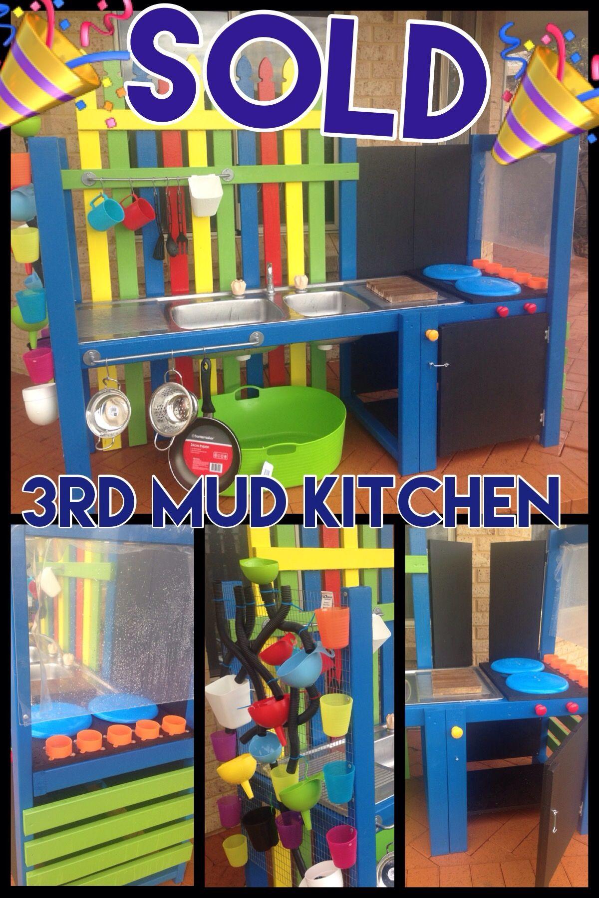 Mud kitchen, Stove,Oven, Shop,Waterwall, Painting easel. Fun Kids outdoor, mud, pretend play Visit my website :-)  https://m.facebook.com/acreativemindaustralia/
