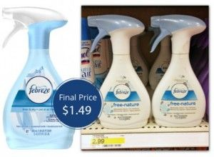 Target: $1.49 Febreze Fabric Refresher after rare coupon stack!