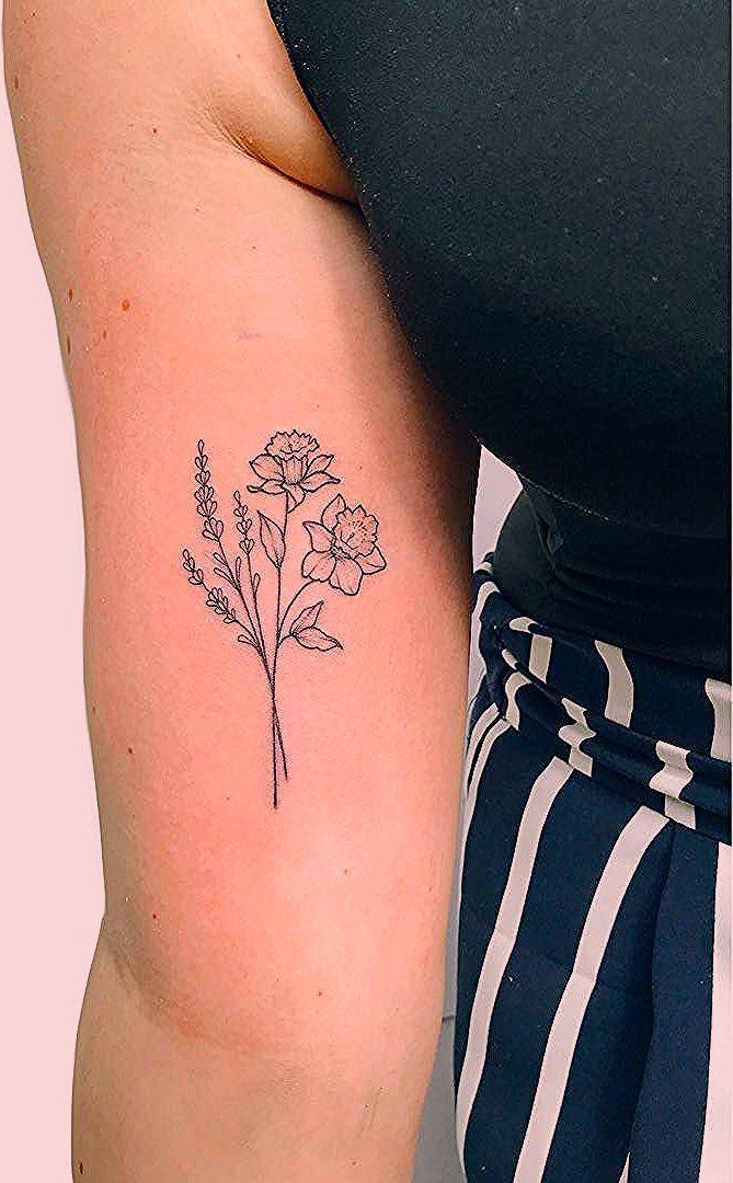 Pin By Rana Dijkstra On Narcyz Daffodil Tattoo Lavender Tattoo Narcissus Flower Tattoos