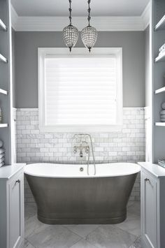Tile And Colors And Tub   51 Modern And Fresh Interiors Showcasing Gray  Paint
