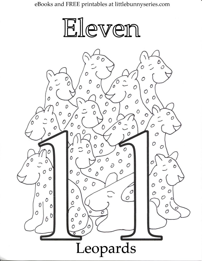 Number 11 Coloring Page PDF Coloring pages, Free