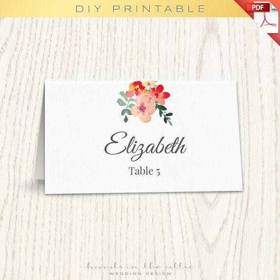 Unique wedding printables, wedding templates diy, wedding placecards ...