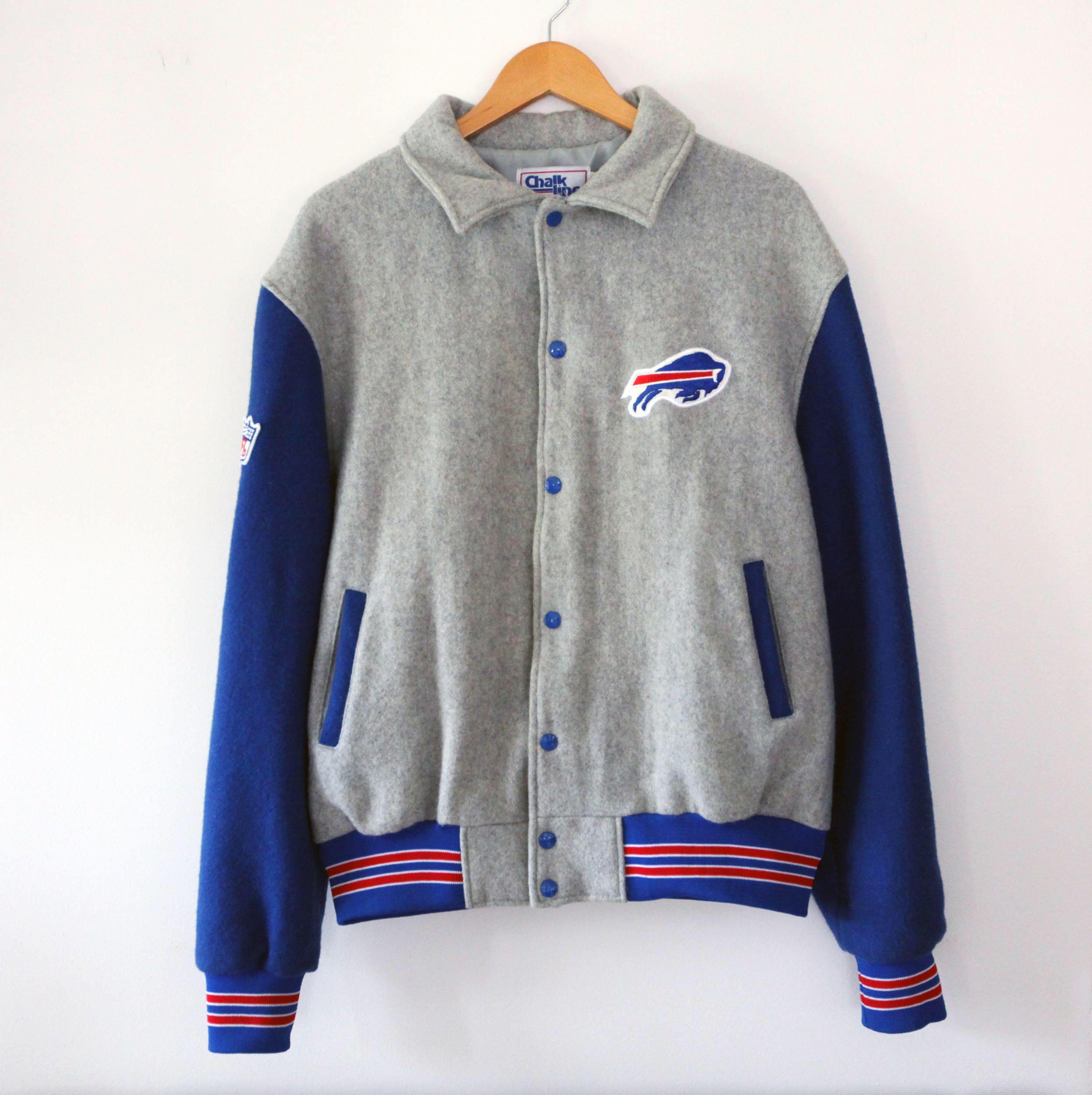 9afd0452 Vintage 90's Buffalo Bills Chalk Line Varsity Jacket SZ XL | My ...