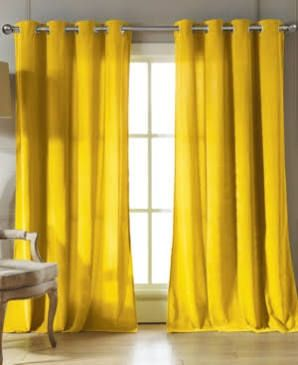 Yellow Velvet Curtains