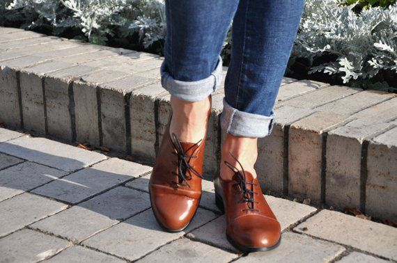 578c459a02404 Gatsby - Womens Oxfords, Handmade Oxfords, Brown shoes, Oxfords for ...