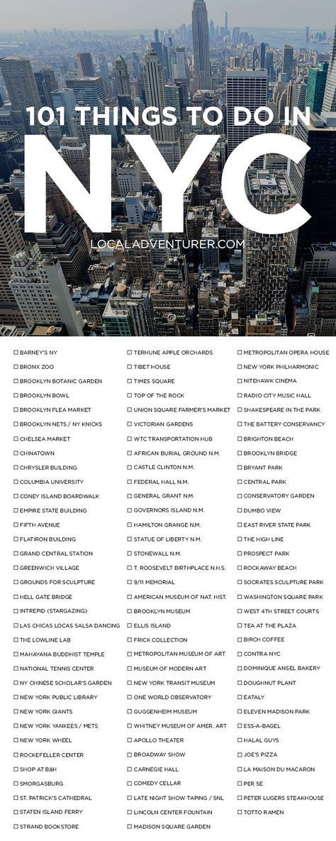 Check out our 101 Things to Do in NYC Bucket List - from the touristy spots everyone has to do at least once to the spots a little more off the beaten path. // localadventurer.com