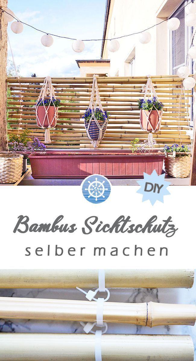 Wie du auf deinem Balkon einen Bambus Sichtschutz aus