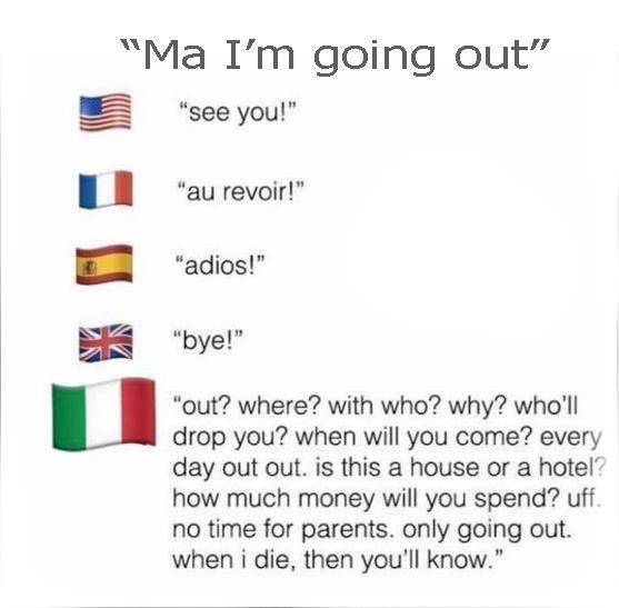 a bit too accurate<<<<only kids who have Italian parents ...