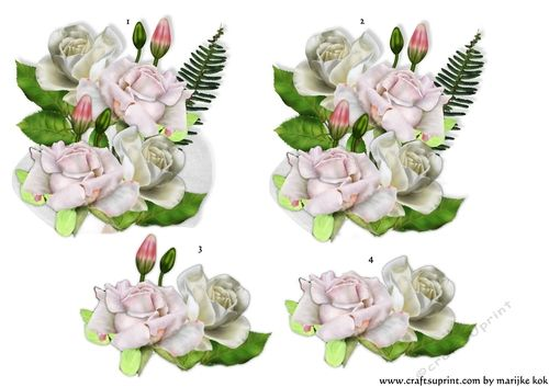 Step by Step corsage by Marijke Kok Gorgeous roses step by step corsage to make your own beautiful card.