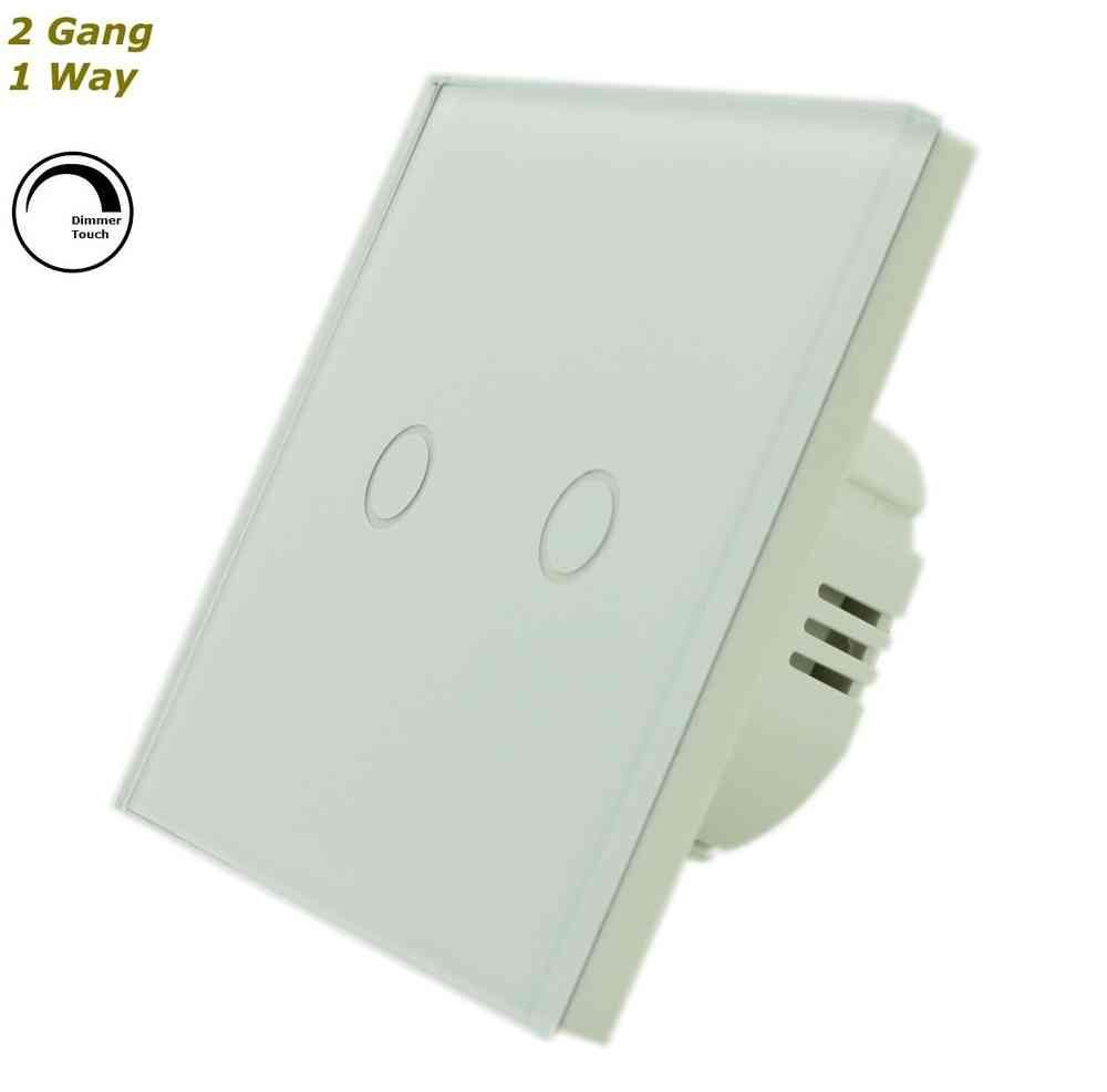 GLSTouch Full Crystal Glass Dimmer Touch Light Switch (On/Off) 2 ...
