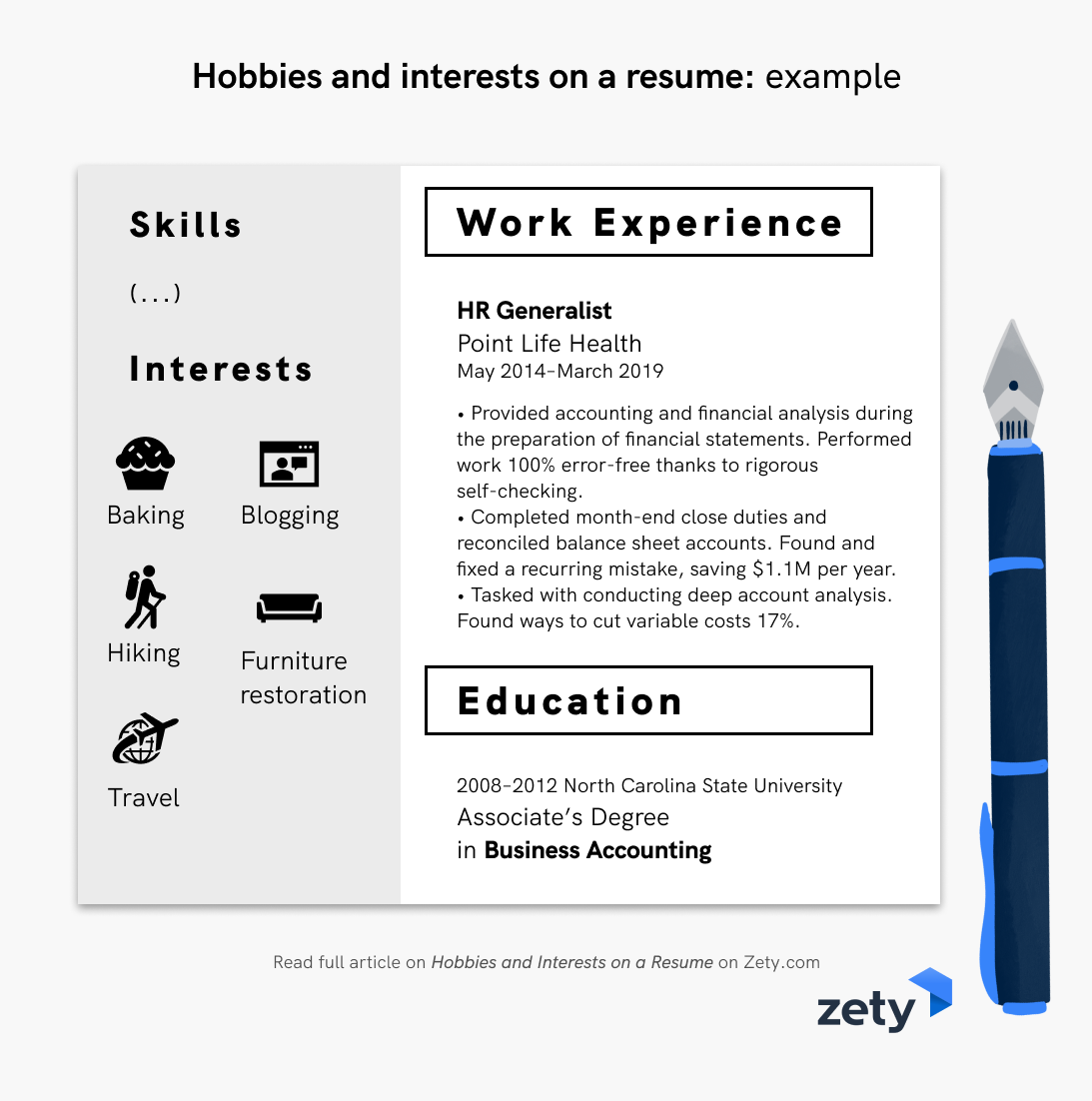 Hobbies And Interests On A Resume Example Job Resume Examples Resume Resume Examples
