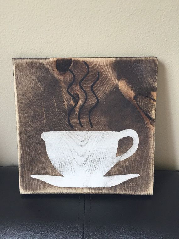 Coffee Signs Kitchen Decor Wooden Coffee Sign Kitchen Decorwondersbywood On Etsy  For