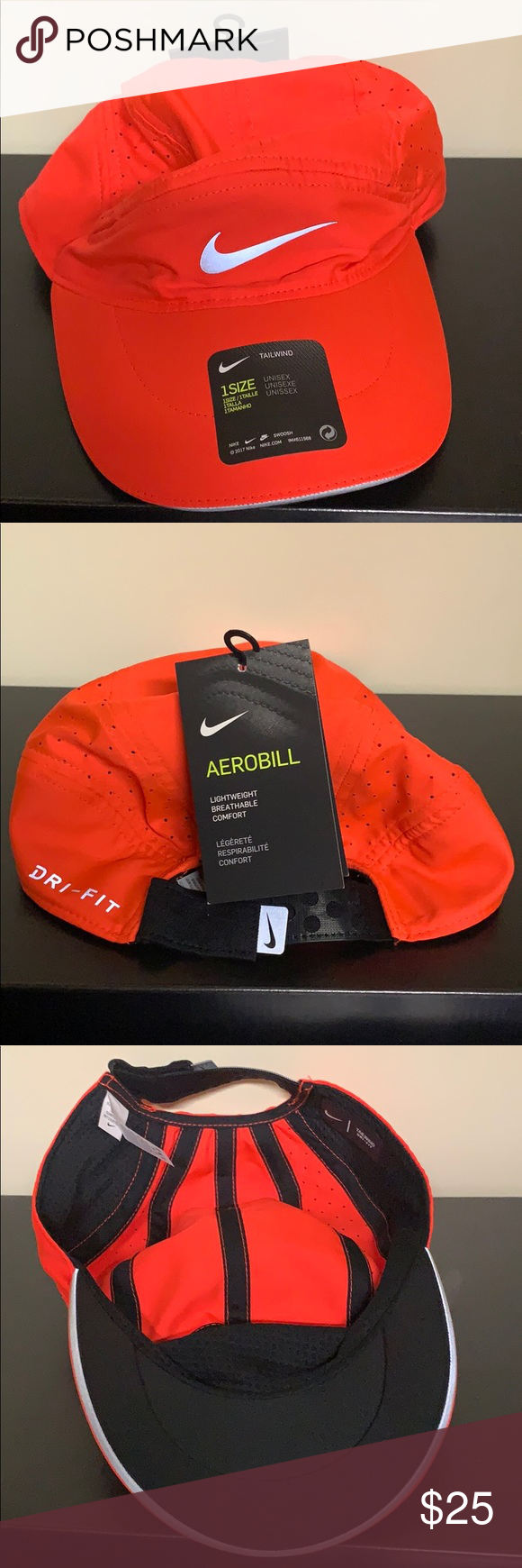 New Unisex Nike Featherlight Aerobill Tailwind Hat Nike Accessories Nike Tailwind Nike