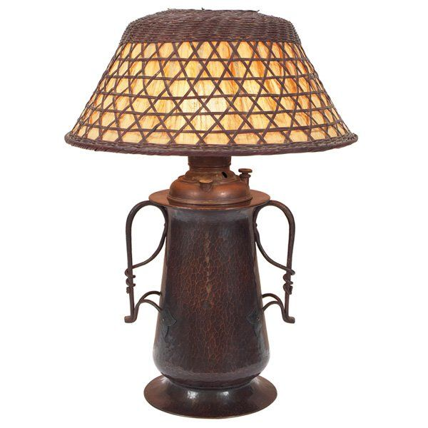 Gustav stickley 1858 1942 table lamp 294 hammered copper and gustav stickley 1858 1942 table lamp 294 hammered copper aloadofball Choice Image