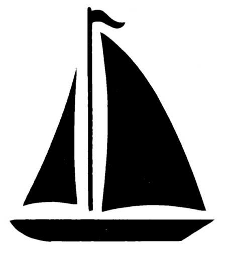 sailboat boat clip art at vector clip art free clipartix pointed rh pinterest com  free sailboat clipart black and white