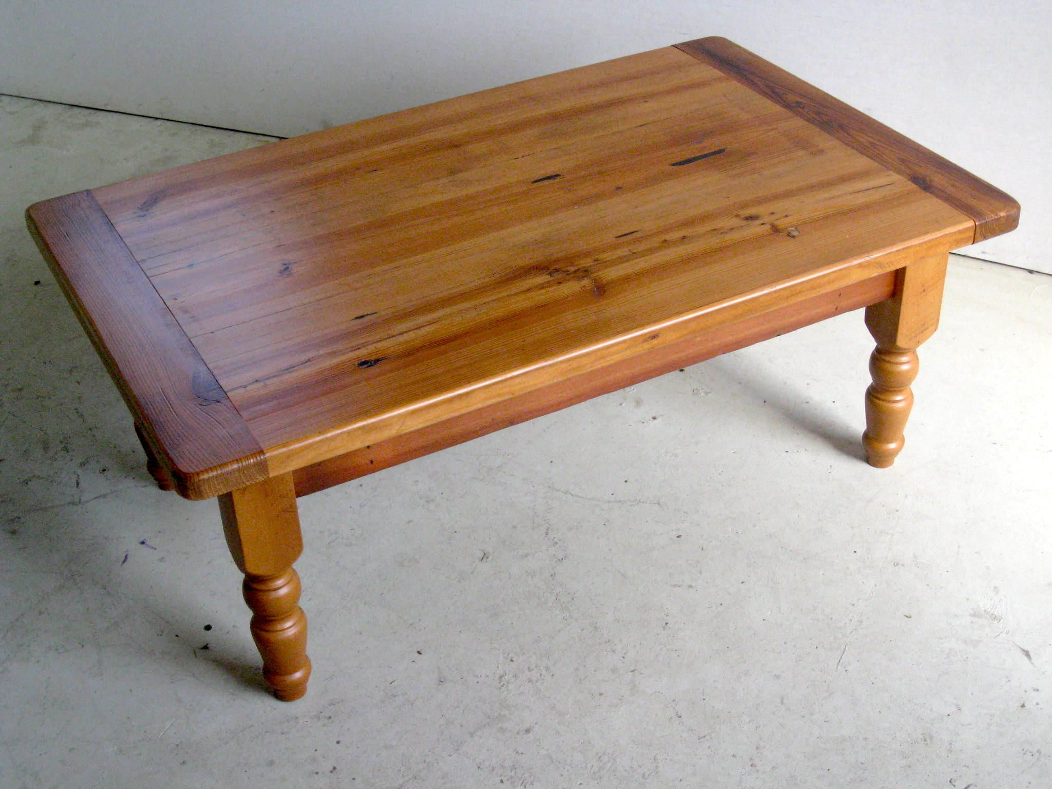 2 inch thick pine cof table with turned legs and breadboard ends 2 inch thick pine cof table with turned legs and breadboard ends wood coffee tablespinefarmhouse geotapseo Choice Image