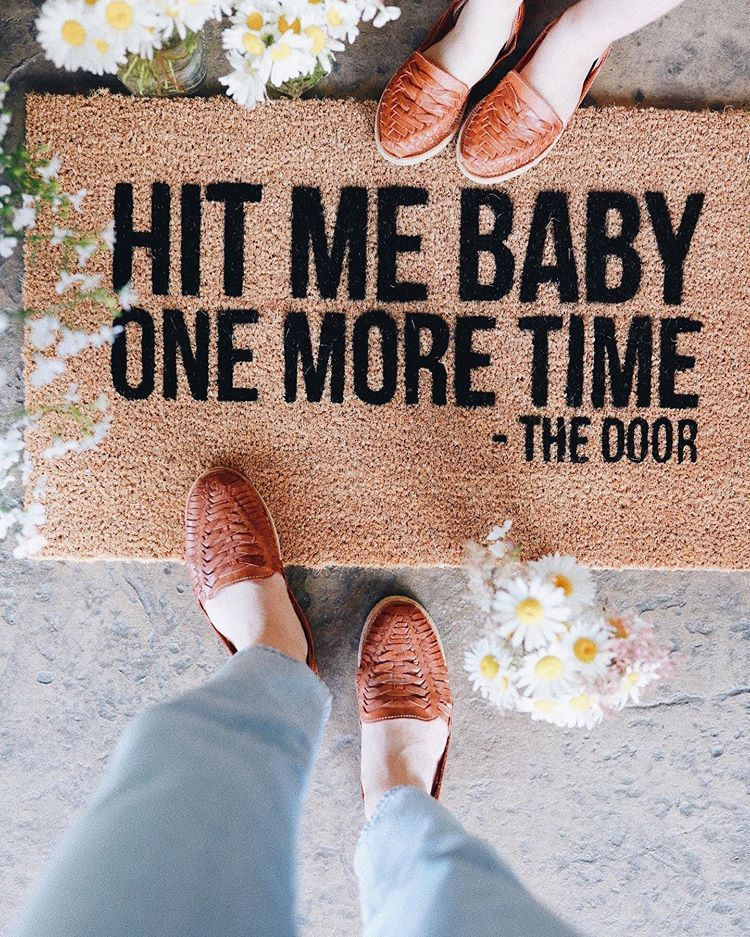 Lovinglittlesblog Read This Mat And You Ll Be Singing This All Day Long Haha It S The Best Funny Door Mats Are An Ultimate Must H In 2020 Door Mat Mats Welcome Mats