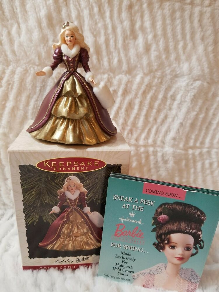 Details about HALLMARK ORNAMENT HOLIDAY BARBIE 4TH IN