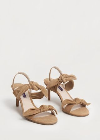 Bows Leather Sandals Plus Sizes Violeta By Mango United Arab Emirates Leather Sandals Women Sandals Heels Sandals