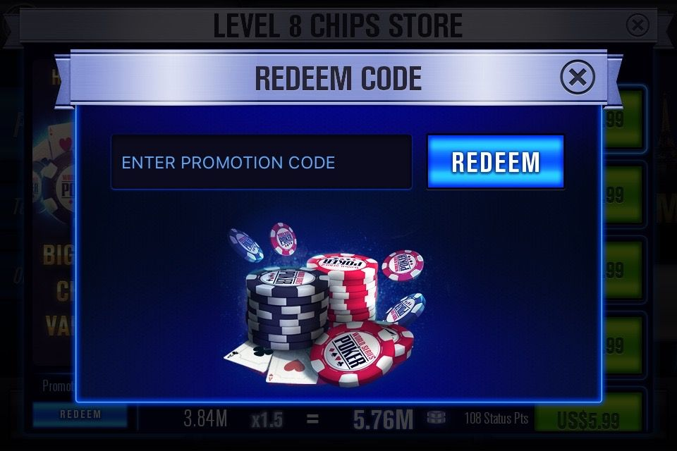 Collect free chips for wsop texas holdem poker using