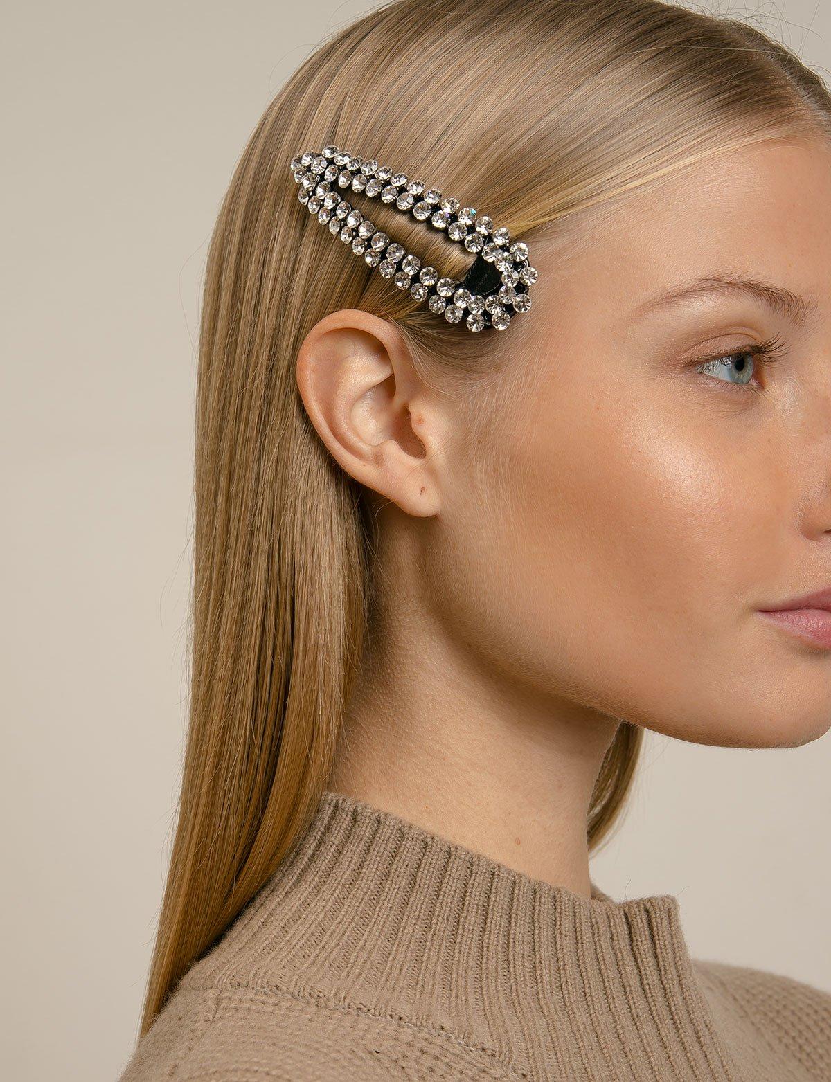 Gold Single Bar Clip In End Barrette Hair Clips Grips Slides