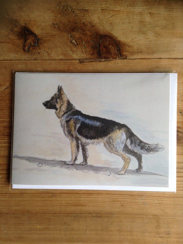 German Shepherd Greetings Card By Laurawrightartist On Etsy Https
