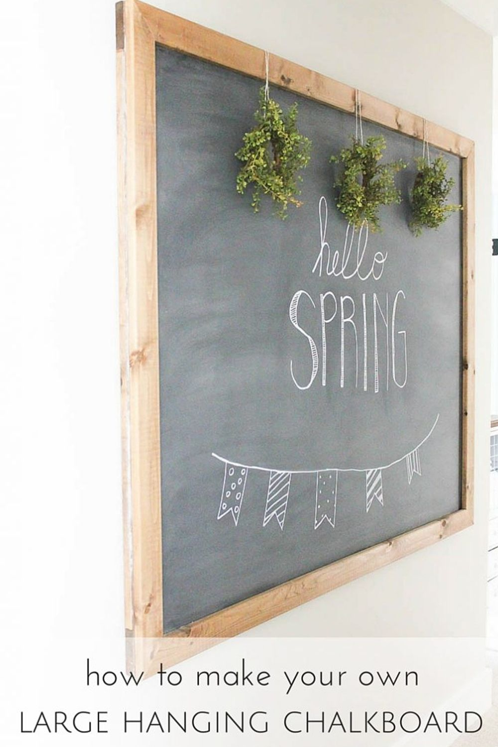 how to make your own large hanging chalkboard  hanging
