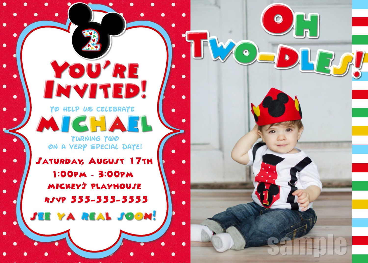 Mickey Mouse Clubhouse Birthday Party Invitation Free Template