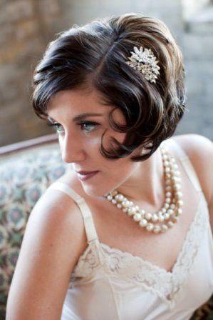 Kurzhaar Frisur Im Vintage Stil Wedding Day Frisur Braut Frisur