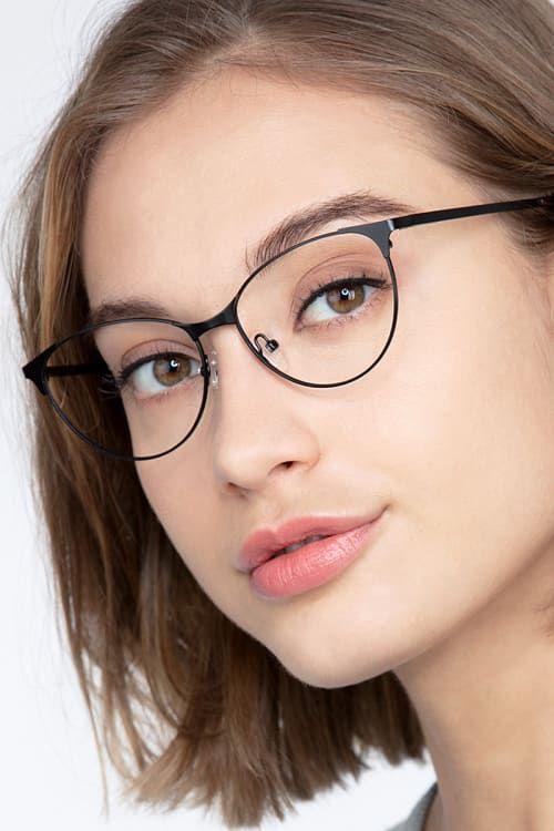 Photo of Sisi – Cat Eye Black Frame Glasses For Women | EyeBuyDirect