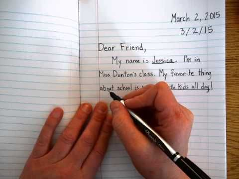 How To Write A Friendly Letter  Homeschool Writing