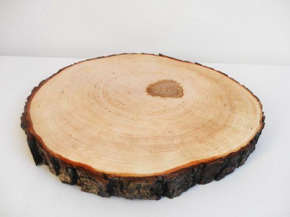 Wood Slice Tree Slab Cake Stand By Daliaswoodland