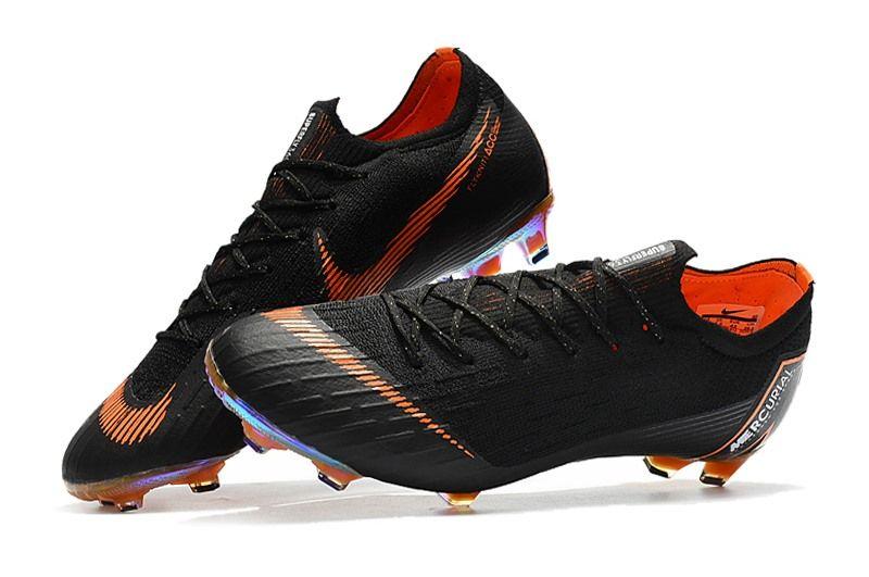 Zapatillas de Fútbol 2018 Nike Mercurial Vapor XII FG - Negro Naranja b6864b4f2a61a