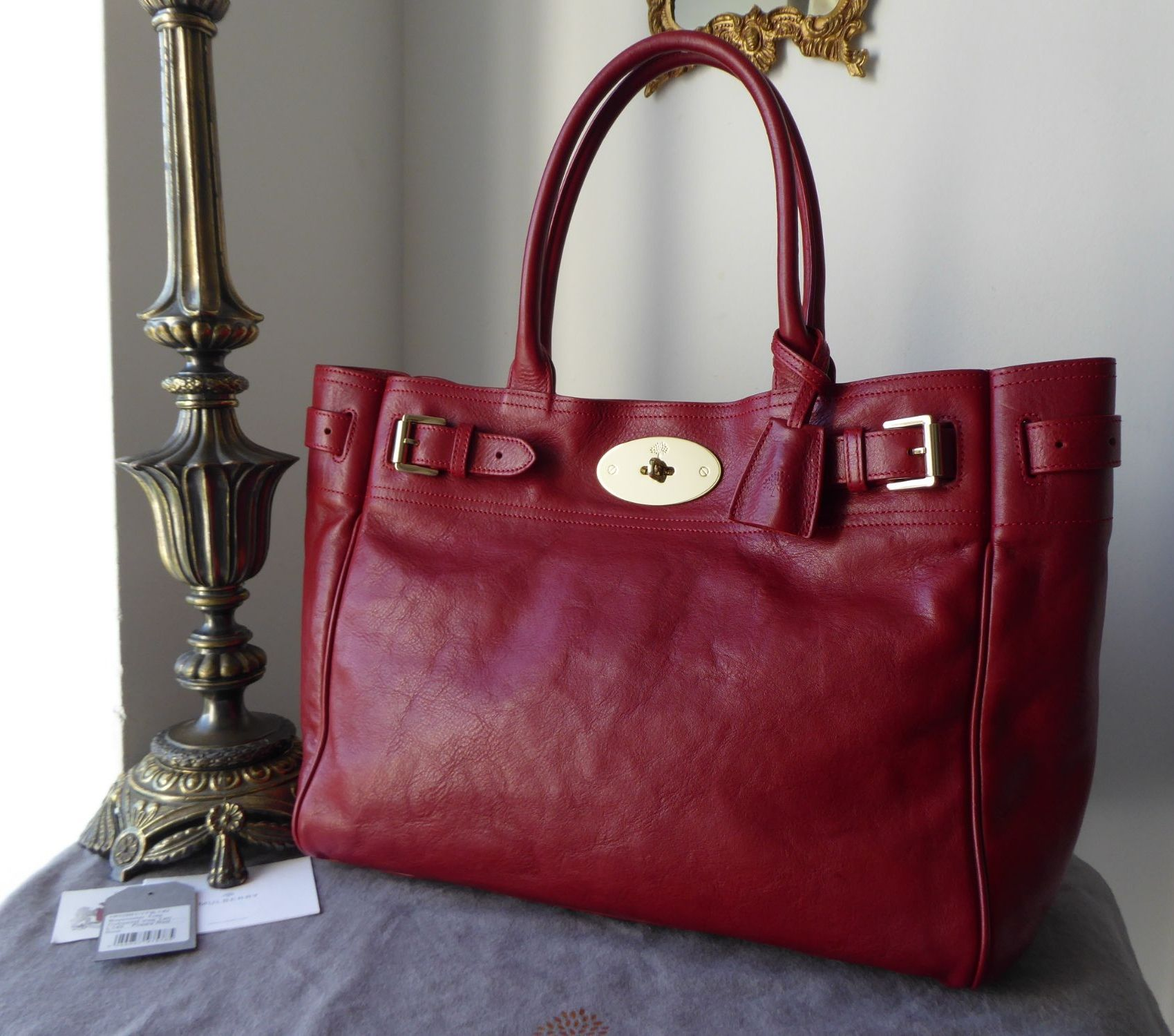 Mulberry Classic Bayswater Tote in Poppy Red Natural