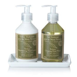L'Occitane verbena hand soap and lotion duo for the