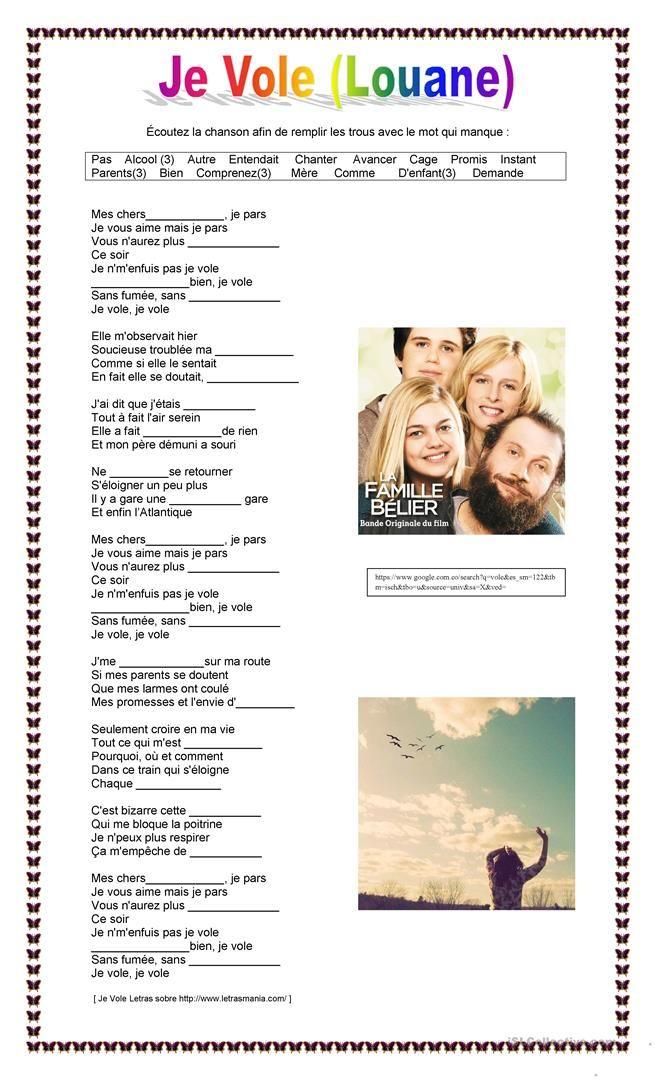 Chanson Si Je Vous Aime : chanson, Parler, Francais,, Chanson,, Paroles, Chansons, Françaises