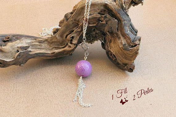 """Argenté K603 Acier Inoxydable Collier 18/"""" Arrow 22 mm ronde perles cage pour maman"""