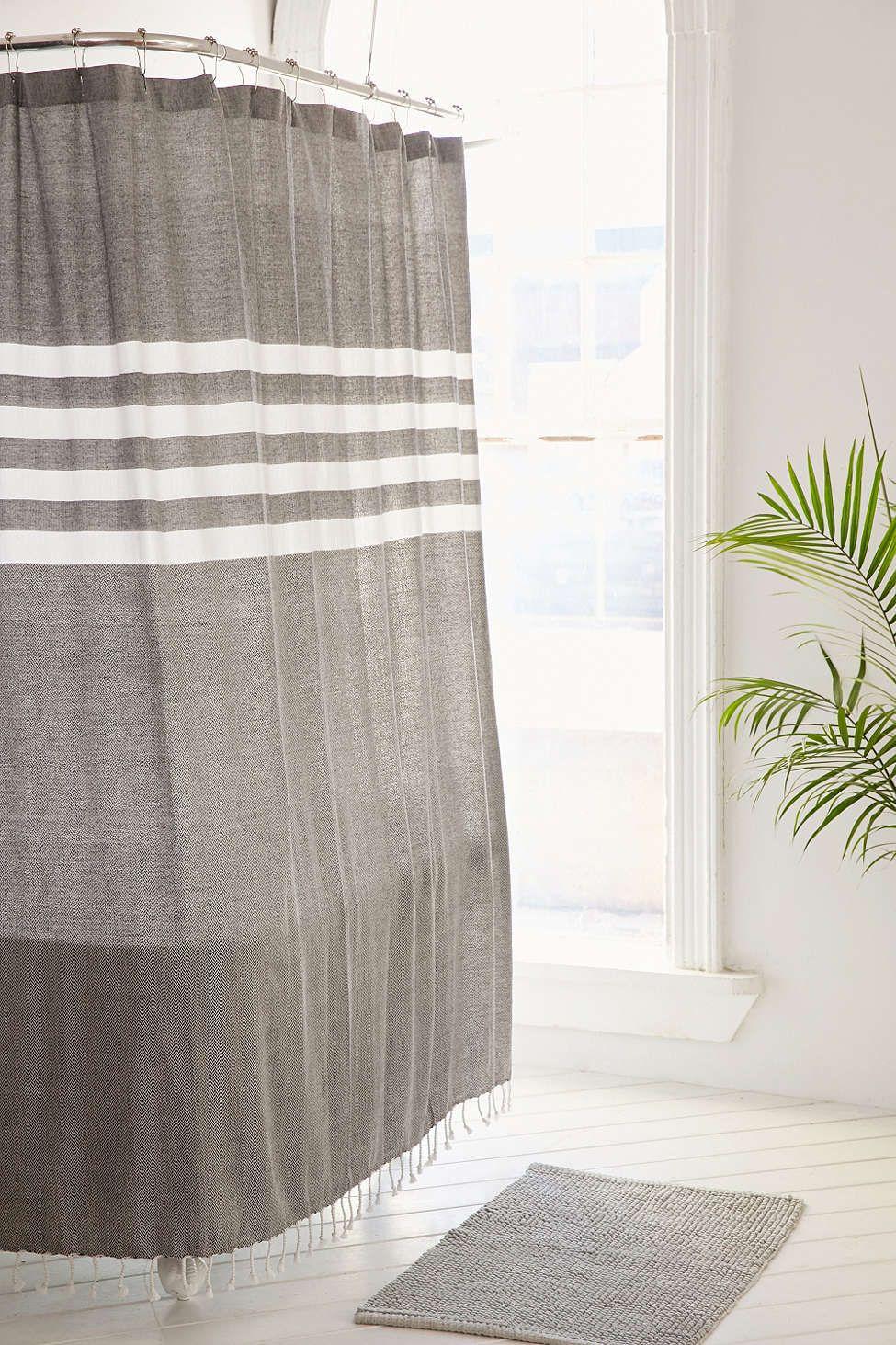 locust miyo yarn dye shower curtain home pinterest