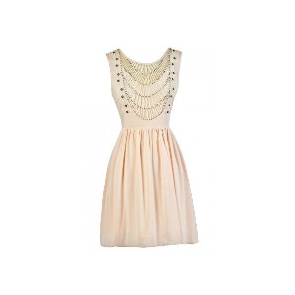 Throw A Net Beaded Dress in Pale Pink ❤ liked on Polyvore featuring dresses, summer dresses, netted dress, net dress, pink dress and beading dress