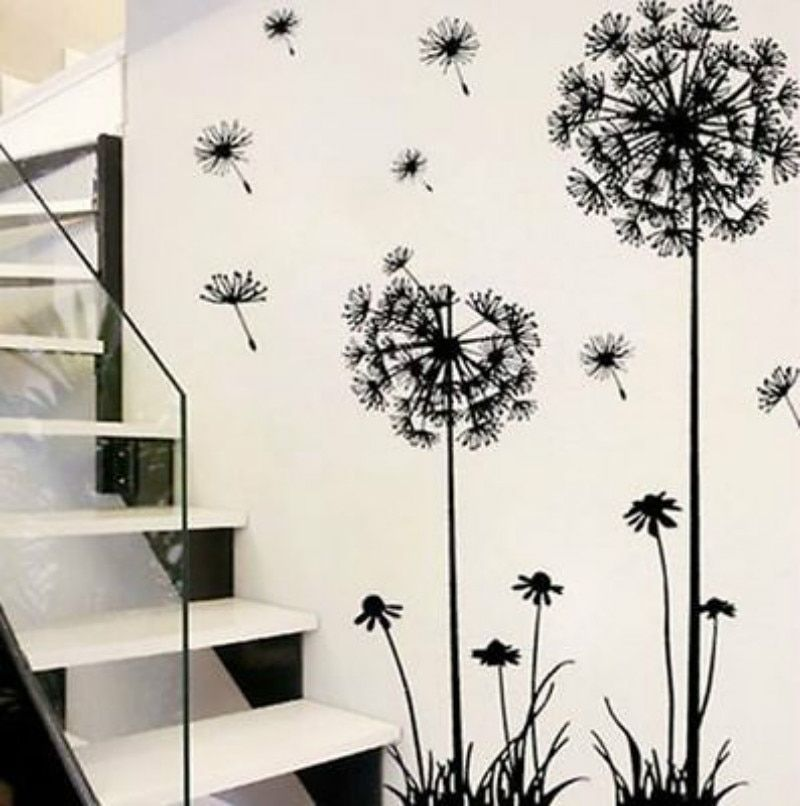 Wall Stickers Removable Art PVC Quote DIY Dandelion Wall Sticker Decal Mural  Home Room Decor - TakoFashion - Women s Clothing   Fashion online shop 1d7046b89a