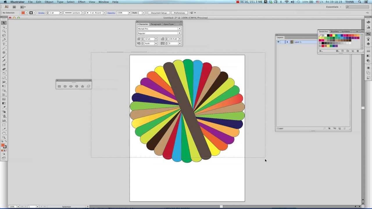 How To Duplicate In Illustrator Cs6 Tutorial Copy Shapes Rotate Illustrator Cs6 Illustration Tutorial