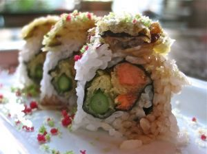 Vegetable tempura roll.