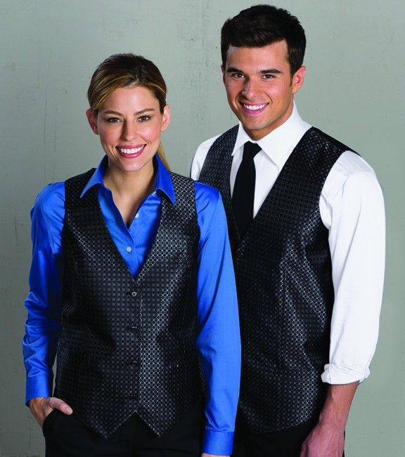 7a8bcc4b406 Edwards Ladies Grid Vests - Restaurant Uniforms from Ambassador Uniforms