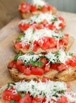 Bruschetta With Tomato And Basil Recipe Food Cooking Recipes