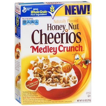 Cheerios Honey Nut Medley Crunch Cereal 13 1 Oz Honey Nut Cheerios Cereal Crunch Cereal