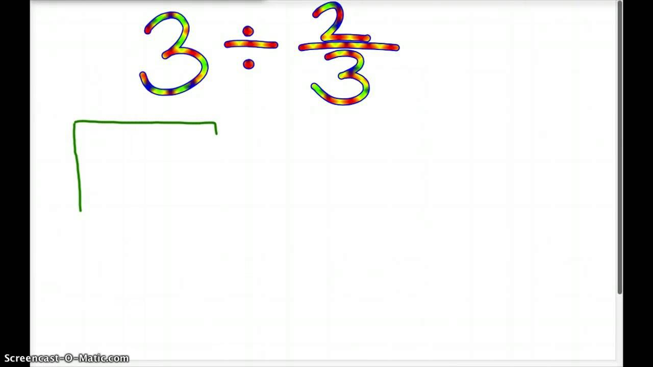 Dividing Fractions With Whole Numbers Using A Model Dividing Fractions Fractions Worksheets Fractions